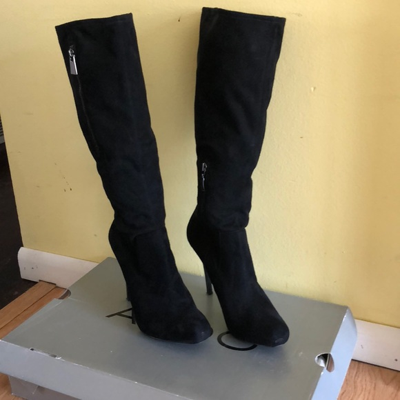 a few days away new photos temperament shoes Guess Shoes | Faux Suede Tall Platform Boots | Poshmark